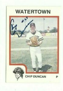 Chip-Duncan-1987-ProCards-Watertown-Pirates-autographed-auto-signed-card
