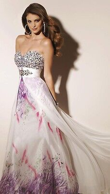 NWT PAPARAZZI by MORI LEE 91046 White Lilac $378 Gown14