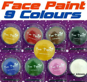 FACE-BODY-PAINT-10g-With-Free-Sponge-Make-Up-Halloween-Fancy-Dress