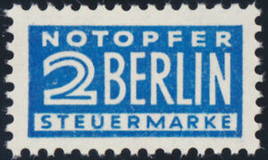 NOTOPFER-BERLIN-MiNr-8-Y-tadellos-postfrisch-gepr-Harlos-Mi-70