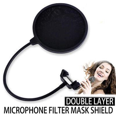 Profi Popschutz Popkiller Pop-Schutz Popfilter für Mikrofon Mic Maske Studio NEU