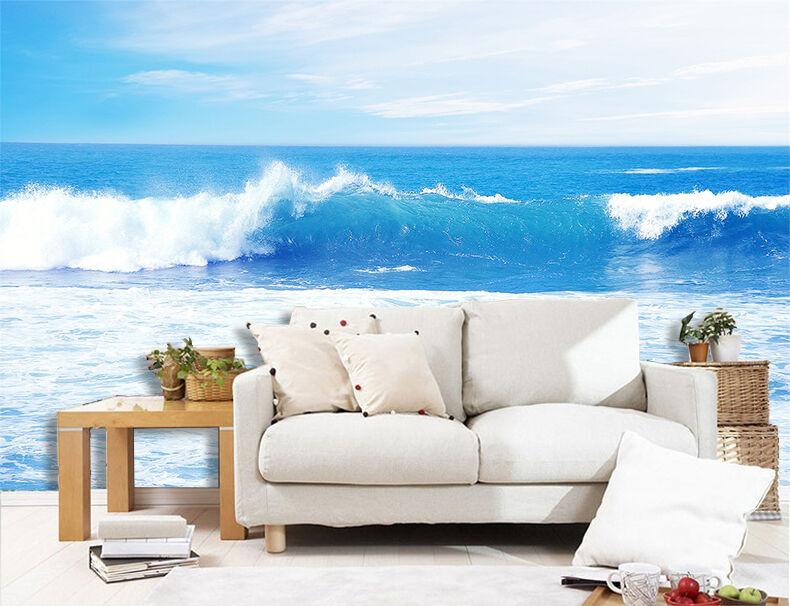 3D Meer, Wellen 66 Fototapeten Wandbild Fototapete Bild Tapete Familie Kinder | Outlet  | Verrückte Preis  | Treten Sie ein in die Welt der Spielzeuge und finden Sie eine Quelle des Glücks