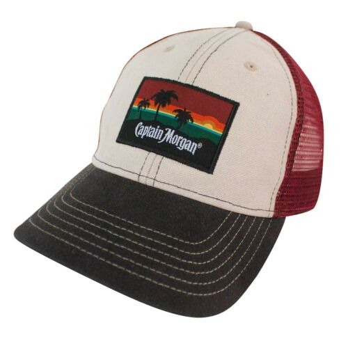 Captain Morgan Beach Side Mesh Snapback Hat Beige