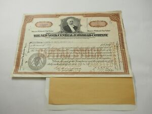 New-York-Central-Railroad-Company-Certiicate-10-Shares-1938