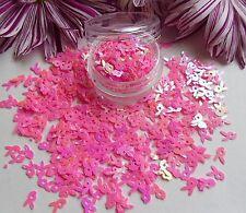 "Nail Art Playboy Design ""Pink Bunny Holographic Pot"" Spangle Glitter Decoration"