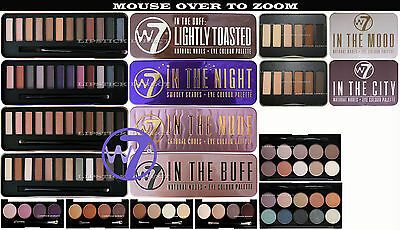 W7 Eyeshadow Palette IN THE BUFF / TOASTED / NUDE / NIGHT / NEON / CITY / NAKED