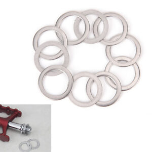 10Pcs-Bicycle-Pedal-Spacer-Crank-Cycling-Bike-Stainless-Steel-Ring-Washers-PY