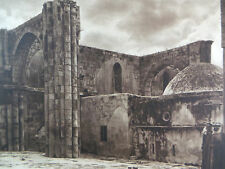 1925 SAMARIA ST. JOHN CHURCH RUINS Israel Shomron Levant West Bank Photogravure