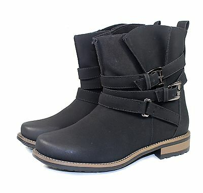 vilma-58 Fashion Ankle Casual Combat Women's motorcycle Winter Boots Black 9