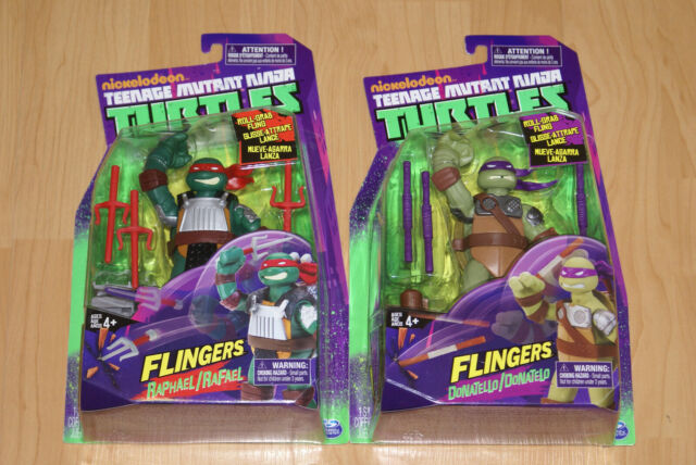 NEW Teenage Mutant Ninja Turtles TMNT Flingers RAPHAEL and DONATELLO Sealed