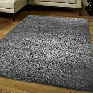 Image Is Loading Modern 5cm Thick Plain Soft Gy Rug Non