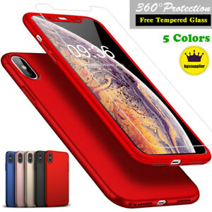 6s Plus 360° Full Tempered Glass Screen Protector Hard Case Cover Cheap Sale For Iphone 6 Cell Phone Accessories