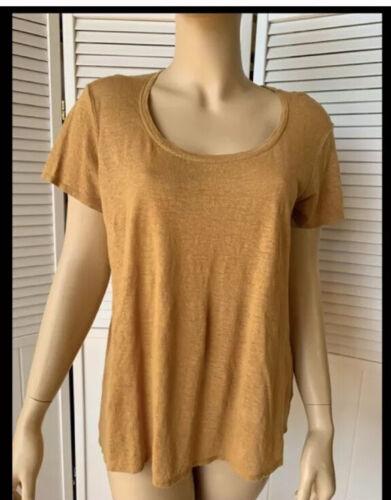 Eileen Fisher Organic Linen Lucky T Shirt Medium