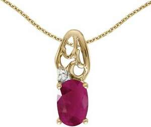 10k-Yellow-Gold-Oval-Ruby-amp-Diamond-Pendant-Chain-NOT-included-P2582-07