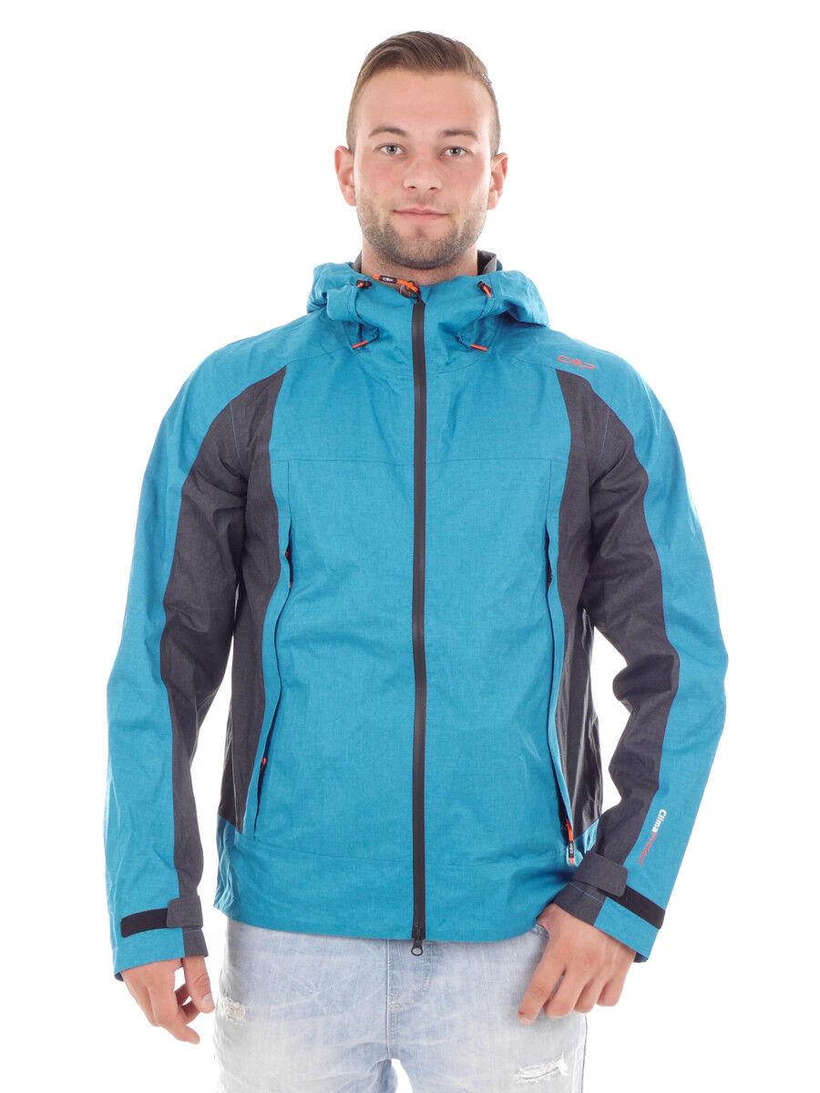 CMP Veste Fonctionnelle Man Veste Capuche Fixe blue Coupe-Vent Réchauffement