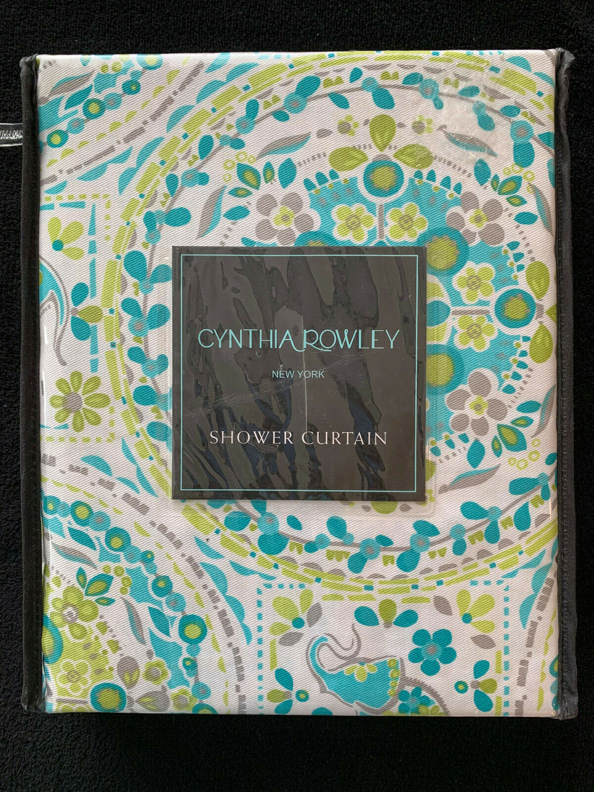 Cynthia Rowley Boho Elephant Shower Curtain Purple Teal Green Yellow For Sale Online Ebay