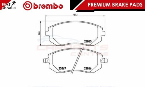 BREMBO GENUINE ORIGINAL PREMIUM BRAKE PADS PAD SET FRONT AXLE P78013