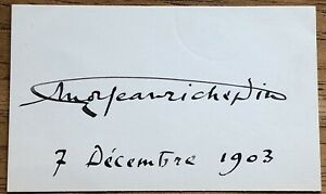 French Writer Jean Richepin Autograph Ebay