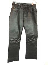 DIESEL Women's Black Lined Leather Motorcycle Pants Front/Rear Pockets Sz 26