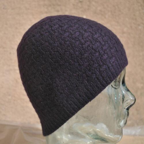 Mens//womens Lujo 100/% Cashmere Purl Stitch Beanie Hat un tamaño Cubrecabeza