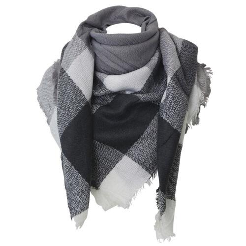 Echarpe carré XXL grise et blanche