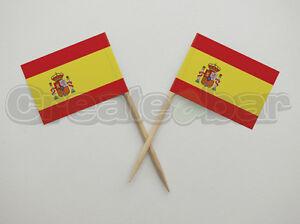 72-Spanish-Flag-Picks-Buffet-Sandwich-Cupcake-Toppers-SPAIN-Flags