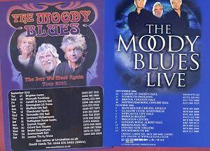 Set THE MOODY BLUES Theatre Flyer Tour Handbills - Leigh-on-Sea, United Kingdom - Set THE MOODY BLUES Theatre Flyer Tour Handbills - Leigh-on-Sea, United Kingdom