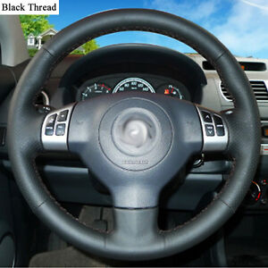 New-DIY-Sewing-on-PU-Leather-Steering-Wheel-Cover-Exact-Fit-For-Suzuki-Swift