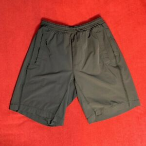 Lululemon-Mens-Solid-Black-Pace-Breaker-9-034-Lined-Gym-Yoga-Short-Size-Small-S