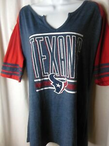 Houston Texans Women s Majestic NFL Team Apparel V Neck Tee Shirt  672b5eb63