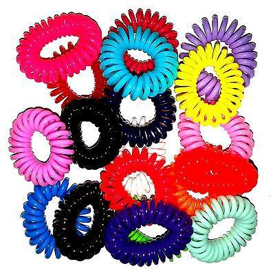 10x Haargummi Telefonkabel Haarbinder Elastisch Spirale Haarbinder Haarschmuck Delikatessen Von Allen Geliebt
