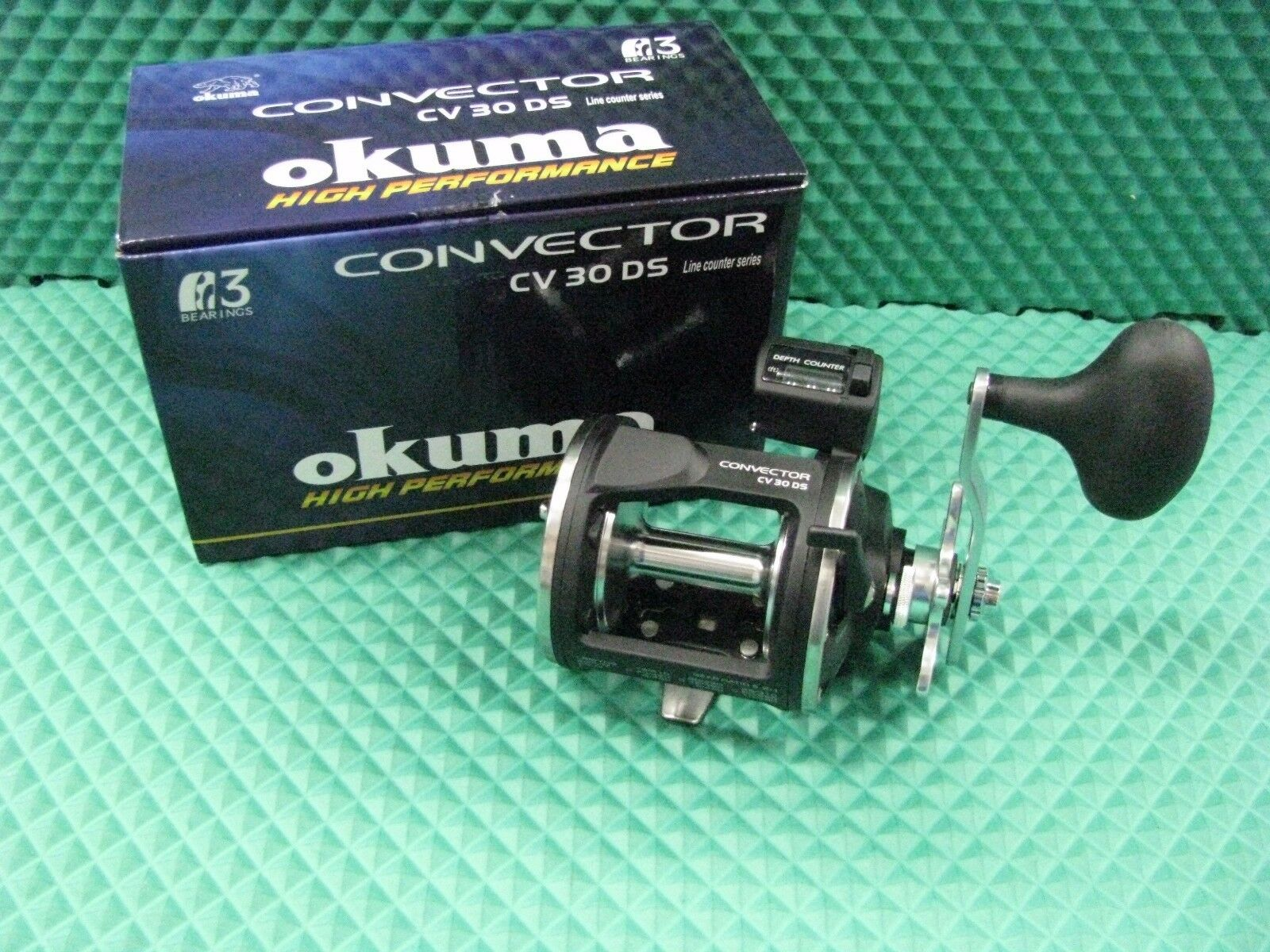 Okuma Convector CV 30DS HIGH SPEED 6.2  1  Line Counter Trolling Reel  large selection