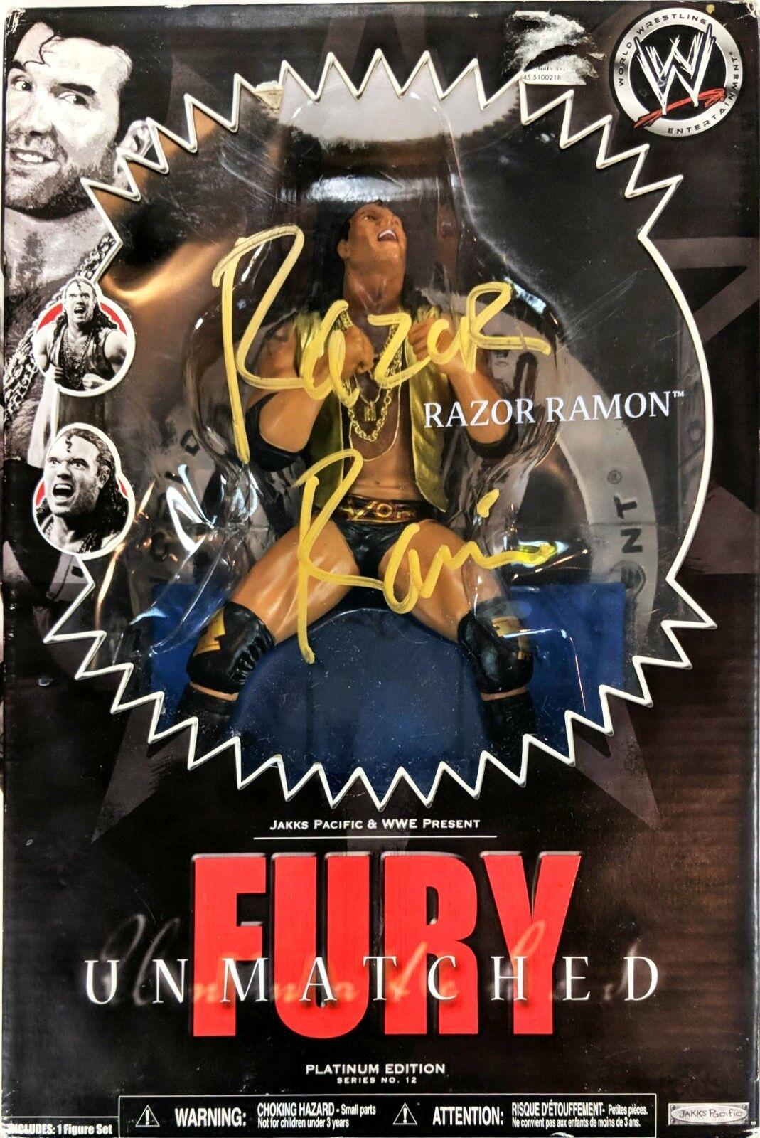 WWE Unmatched Fury Razor Ramon Platinum Series Signed Autograph Sealed