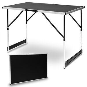 Détails sur Table de camping pliante table de jardin réglable en aluminium  MDF CPT8121sz