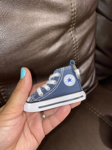 Blue Jeans Converse All Star Chuck Taylor Sneaker Shoe Keychain