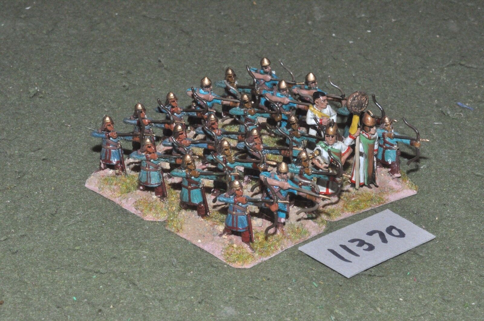 25mm medieval   gasgan - archers 24 figs - inf (11370)