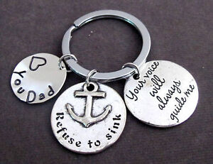 Your-Voice-will-always-guide-me-Father-039-s-Day-Gift-Father-Keychain