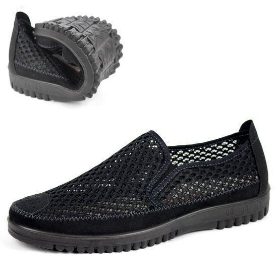 Mens mesh net cloth breathable pull on sport sandals casual shoes fashion new &&