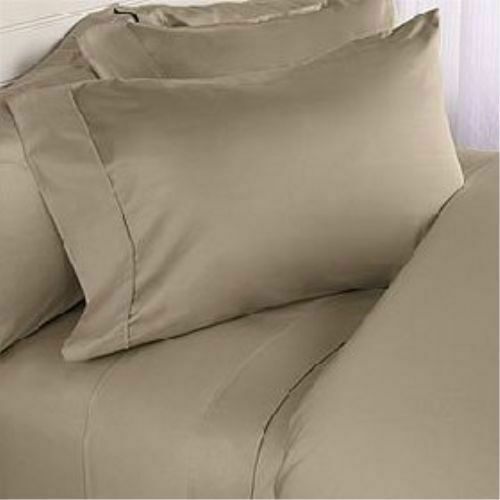 1000TC Egyptian Cotton Deep Pocket Fitted Sheet+2PC Pillow Cal-King Size/&Color