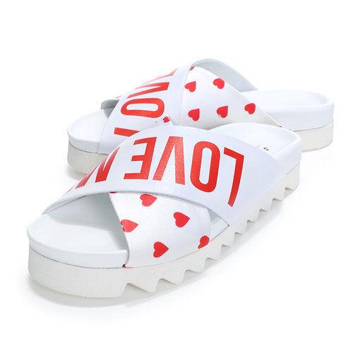 Joshua Sanders Women's shoes White Heart Sandal Size 35-37 Made in  10115HE