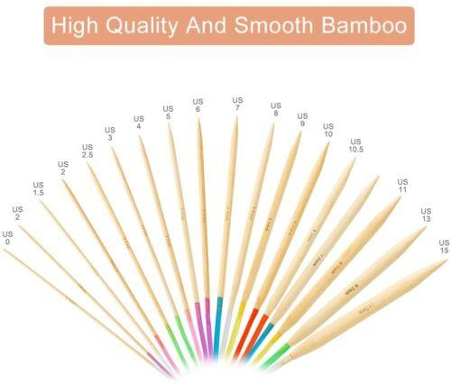"US Sizes 0-15 Bamboo Circular Knitting Needles 40/"" 100 cm Choose Size New"