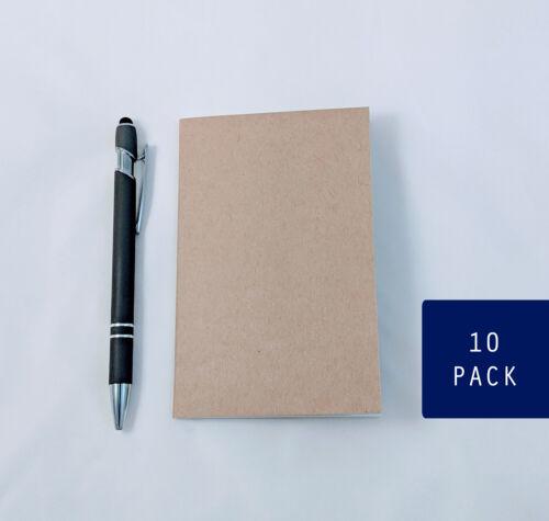 Bulk Kraft Notebooks, 3.5 x 5.5 Inch, Journals, Sketchbook, Small Blank Journals