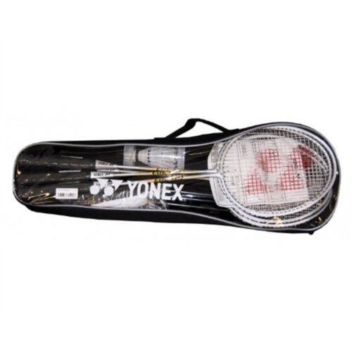 Yonex 4 Player Badminton Set Racquets Net Poles Shuttlecocks Bag