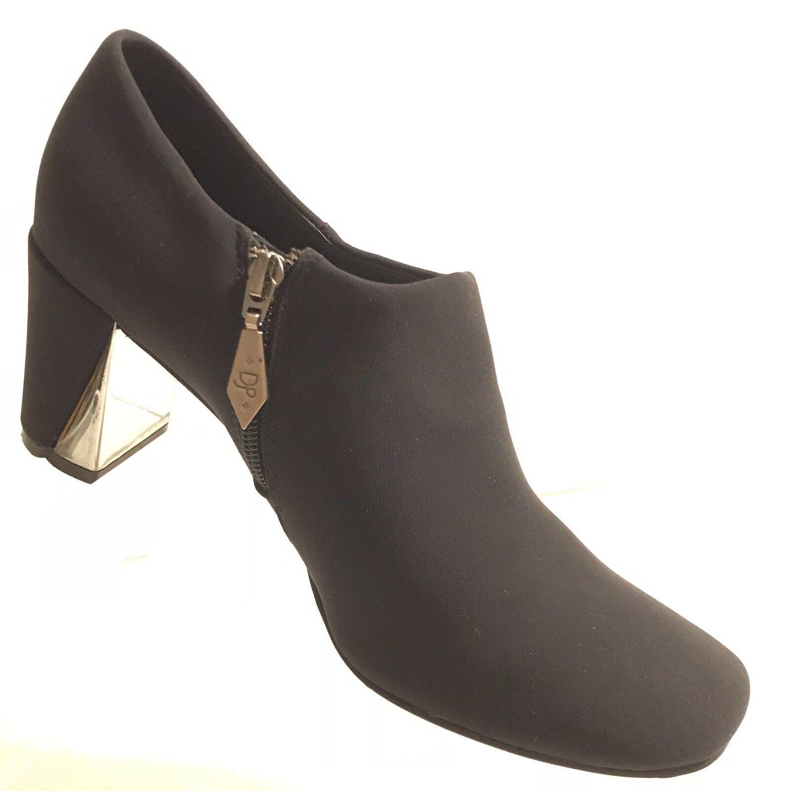 Donald J Pliner womens Zip Up Booties 9.5 Med Black Block Heel shoes SB579