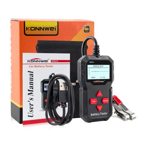 Konnwei KW210 12V Automotive Car Battery Tester Digital Vehicle Analyzer 2000CCA