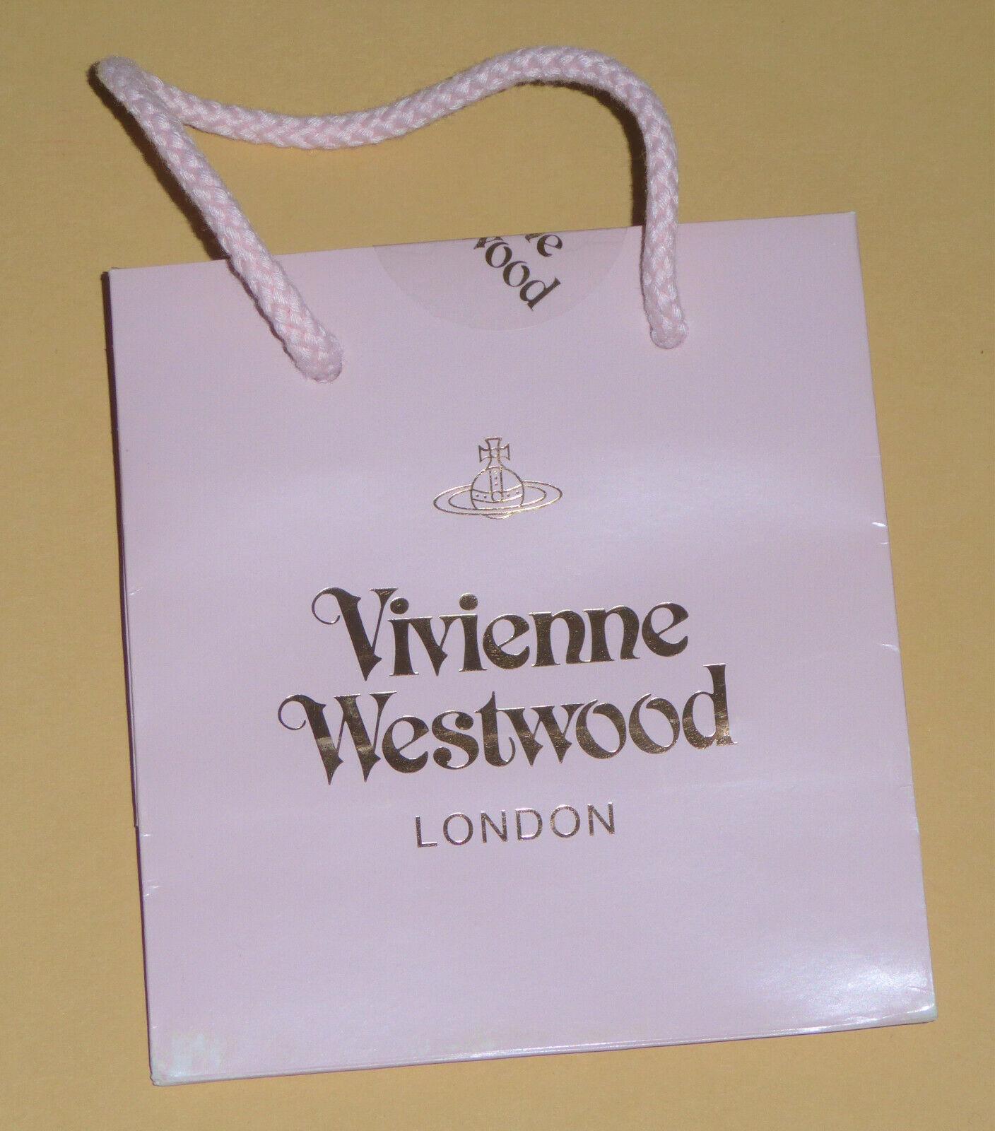 ~ ~ Vivienne Westwood Londres Bolsa De Regalo {Pequeño/Baby Pink/moda/Diseñador} Nr