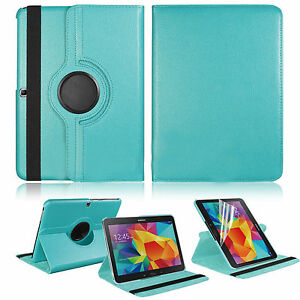 Leather-Rotating-Case-Cover-For-Samsung-Galaxy-Tab-4-10-1-Tablet-SM-T530NU-New