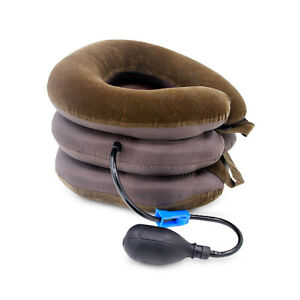 Air-Inflatable-Pillow-Cervical-Neck-Pain-Relief-Traction-Support-Brace-Stretcher