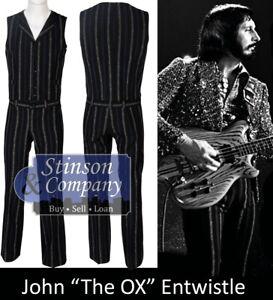 "Rock Hall of Famer John ""The Ox"" Entwistle Stage Worn Blue Pinstrip Suit w/COA"