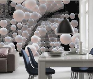Geant-Papier-Peint-Papier-Peint-photo-368x254cm-Abstract-composition-Noir-amp-Balls